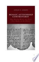 MOSAIC AUTHORSHIP CONTROVERSY
