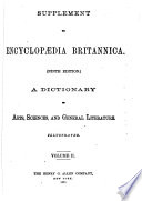 Supplement to Encyclop  dia Britannica  ninth Edition