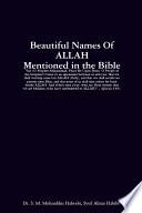 Beautiful Names of ALLAH in the Bible