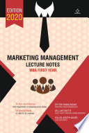Marketing Management   Lecture Notes
