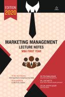 Marketing Management - Lecture Notes Pdf/ePub eBook