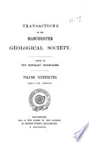 Transactions Of The Manchester Geological Society