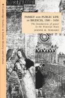 Family and Public Life in Brescia, 1580-1650