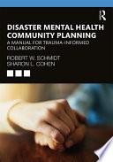 Disaster Mental Health Community Planning