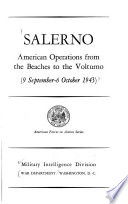 Salerno  American Operations from the Beaches to the Volturno Book PDF