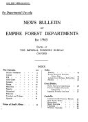 News Bulletin Of Empire Forest Departments