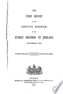 Report Of The Deputy Keeper Of The Public Records In Ireland