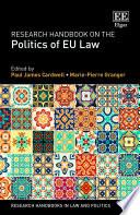 Research Handbook On The Politics Of Eu Law