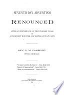 Seventh day Adventism Renounced Book PDF