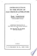 Introduction to the Study of Old French Literature