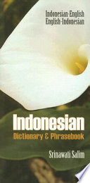 Indonesian Dictionary Phrasebook Book