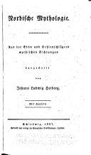 Nordische Mythologie : aus der Edda und Oehlenschlägers mythischen Dichtungen