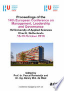 ECMLG 2018 14th European Conference on Management  Leadership and Governance Book