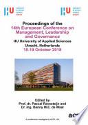 ECMLG 2018 14th European Conference on Management, Leadership and Governance