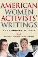 American Women Activists  Writings