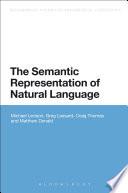The Semantic Representation Of Natural Language Book PDF