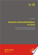 Deutsche Automobilzulieferer in China