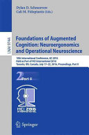 Foundations of Augmented Cognition  Neuroergonomics and Operational Neuroscience