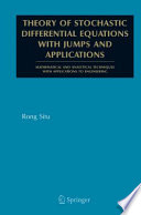 Theory Of Stochastic Differential Equations With Jumps And Applications Book PDF
