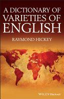 A Dictionary of Varieties of English Pdf/ePub eBook