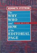 The Why  Who  and how of the Editorial Page