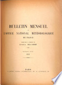 Bulletin Mensuel de l'Office National Météorologique de France