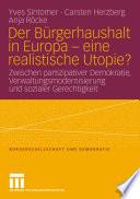 Der Bürgerhaushalt in Europa - eine realistische Utopie?