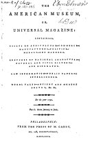 The American Museum Or Universal Magazine