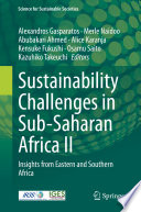 Sustainability Challenges in Sub-Saharan Africa II