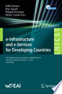 e Infrastructure and e Services for Developing Countries