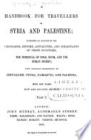 A Handbook for Travellers in Syria and Palestine     Book PDF