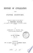 History of civilization in the fifth century  tr  by A C  Glyn