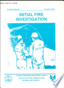 Initial Fire Investigation