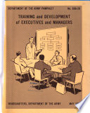 Training and Development of Executives and Managers