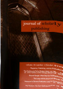 Journal of scholarly publishing Book PDF