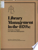 Library Management in the 1970 s Book