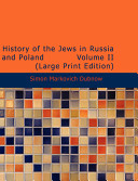 History of the Jews in Russia and Poland Book PDF