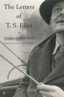 Letters of T. S. Eliot Volume 8