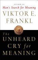The Unheard Cry for Meaning Pdf/ePub eBook