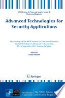 Advanced Technologies For Security Applications Book PDF