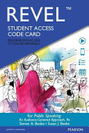 Public Speaking - Revel Access Code: An Audience-Centered Approach