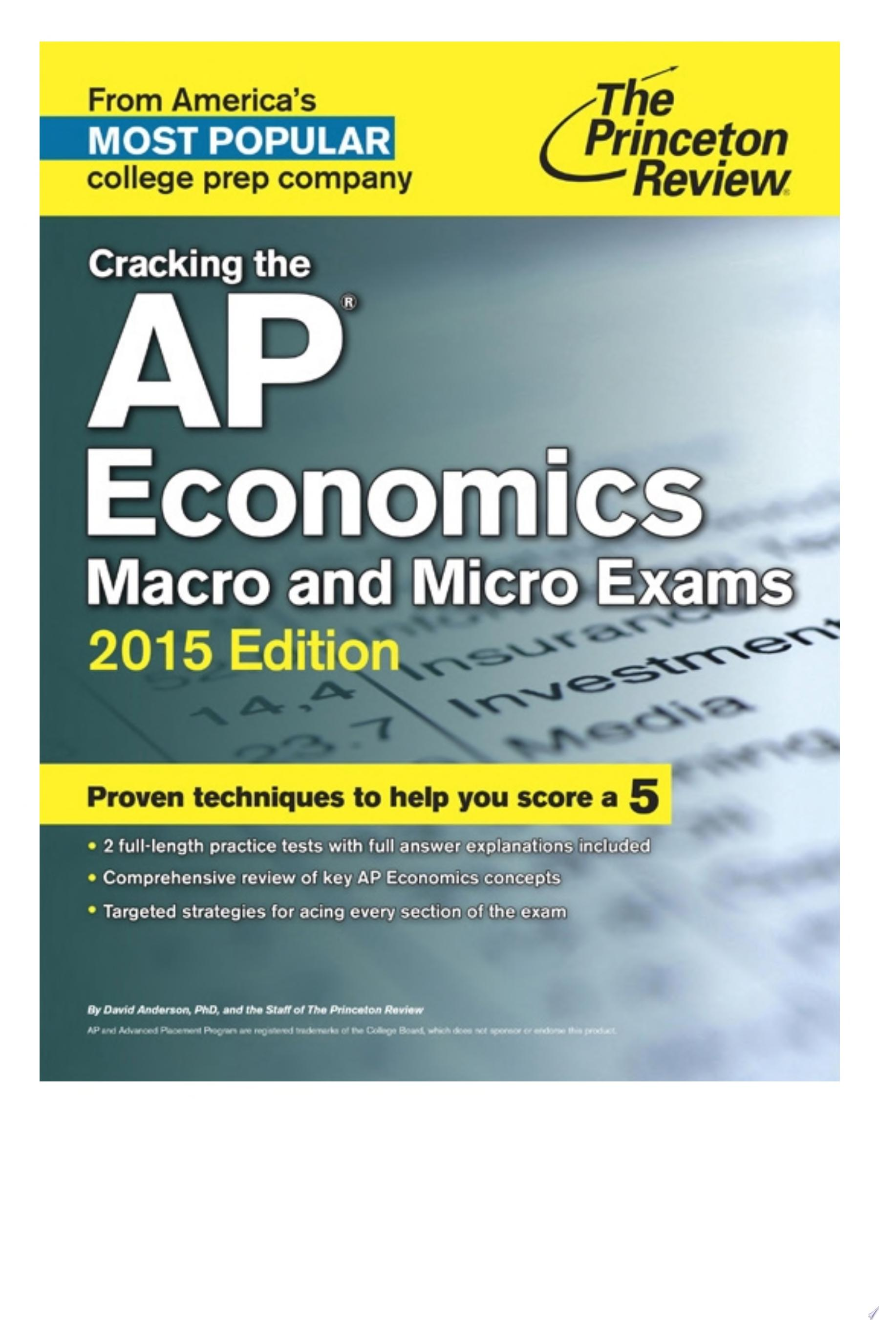 Cracking the AP Economics Macro   Micro Exams  2015 Edition
