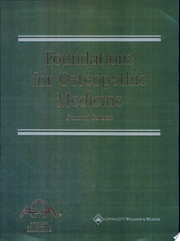 Foundations for Osteopathic Medicin