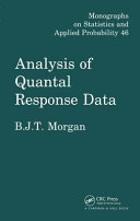 Pdf Analysis of Quantal Response Data