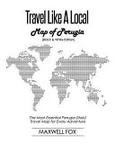 Travel Like a Local   Map of Perugia  Black and White Edition
