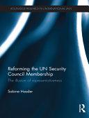 Reforming the UN Security Council Membership