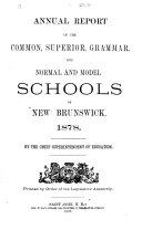 Annual Report of the Schools of New Brunswick