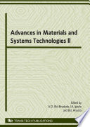 Advances In Materials And Systems Technologies Ii Book PDF