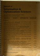 Journal of Information & Optimization Sciences