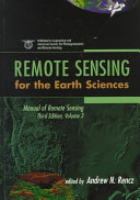 Manual of Remote Sensing: Remote sensing for the earth sciences